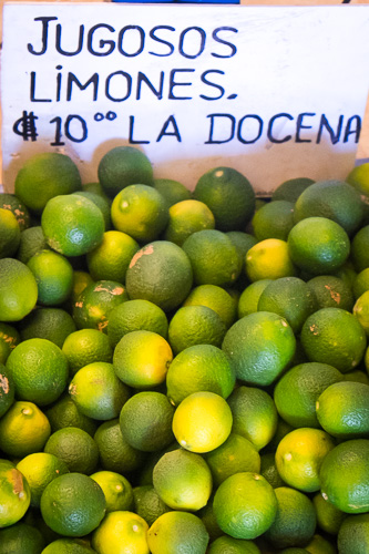 In Nicaragua limes are cheap