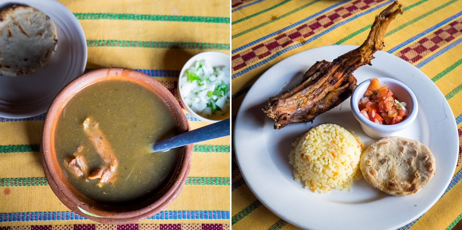 iguana soup and roast iguana