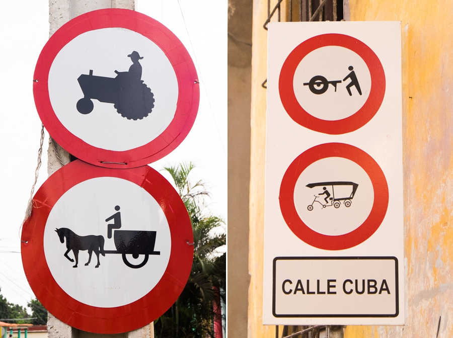 Traffic signs - Cuba