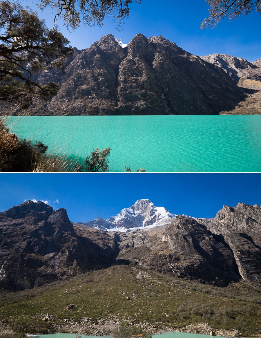 Llanganuco lakes: Chinancocha (Woman's Lake) and Orconcocha (Man's Lake)