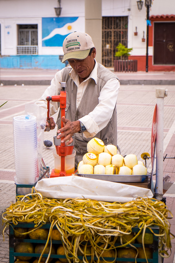 Fresh orange juice - Bolivian food