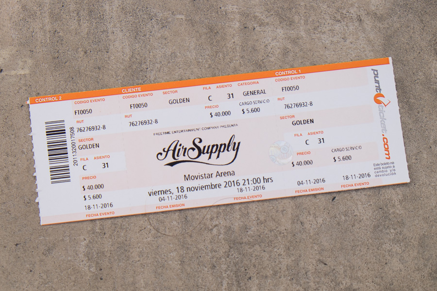 Air Supply concert - Santiago, Chile