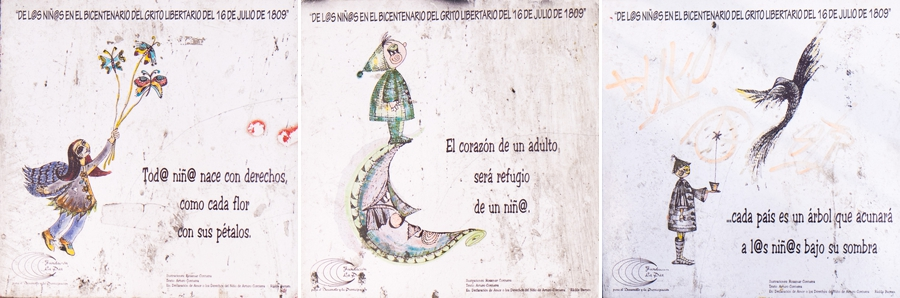 La Paz tiles - protect children