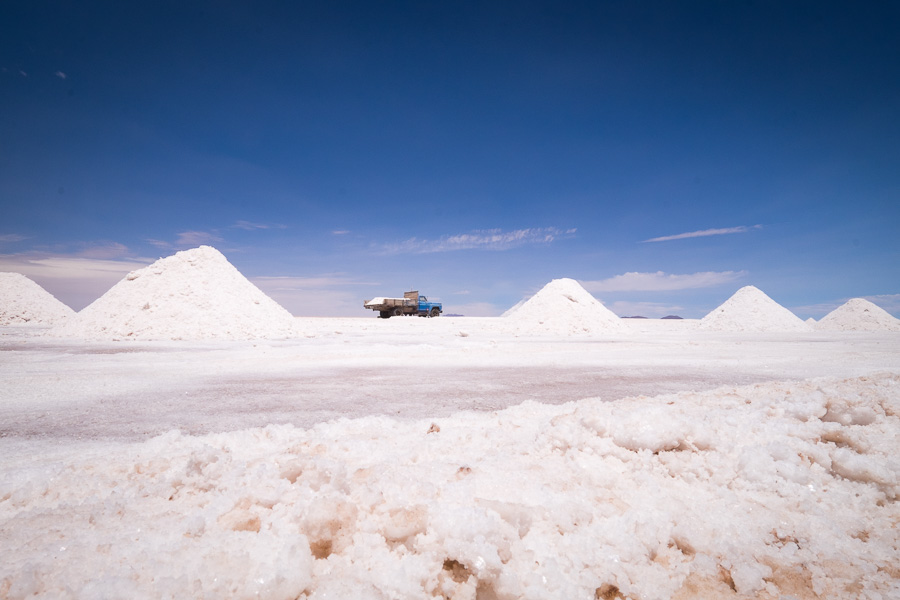 Salt collection - Salar de Uyuni - Bolivia