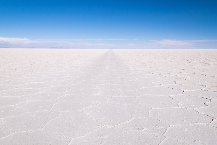 Keep to the already formed tracks! - Salar de Uyuni - Bolivia