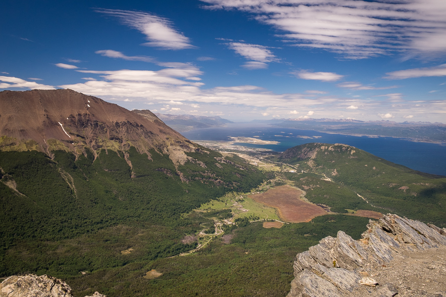 The view to Ushuaia and the Beagle Channel - Cerro Guanaco trail - Tierra del Fuego National Park - Argentina