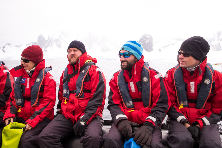 Suited up for Antarctica