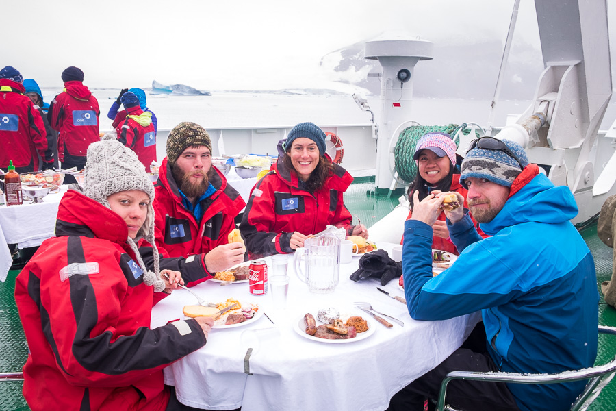Argentine BBQ on the Vavilov - Antarctica