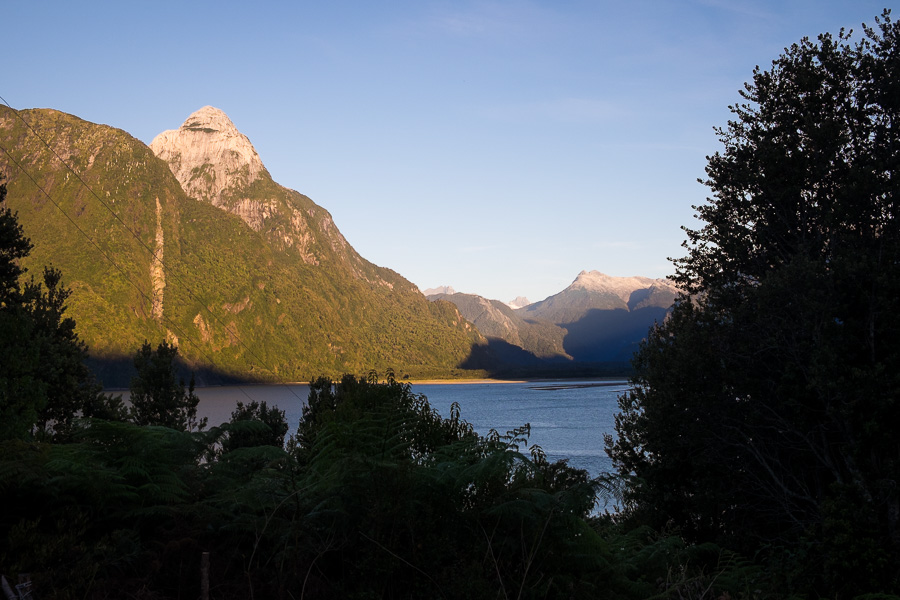 View from campground at the end of the Comau Fjord