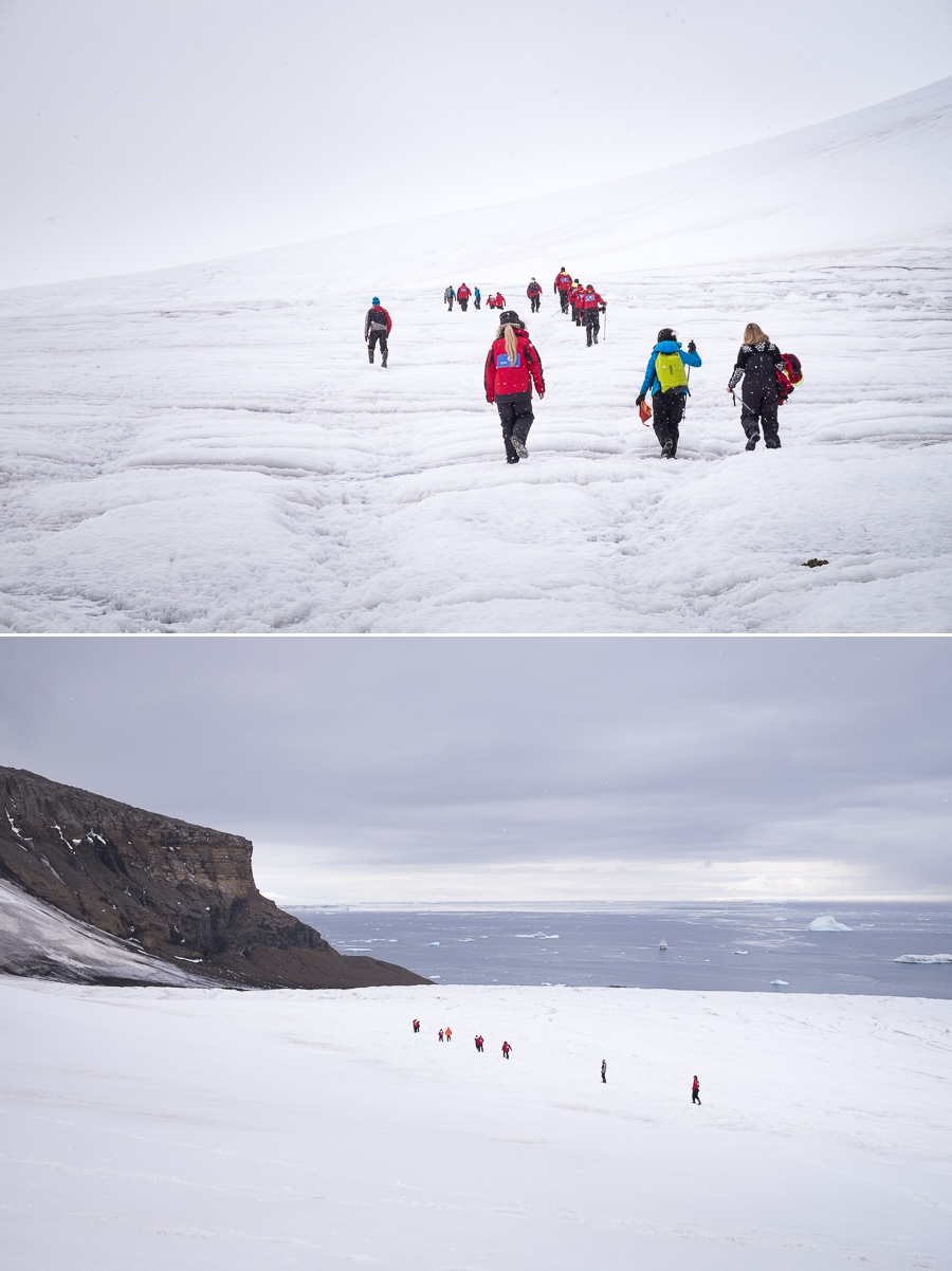 Hiking at Brown Bluff - Antarctic Peninsula
