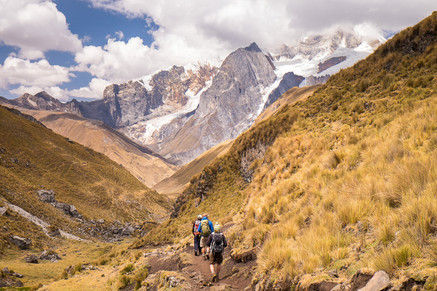 Heading away from Punta Carhuac pass - Cordillera Huayhuash