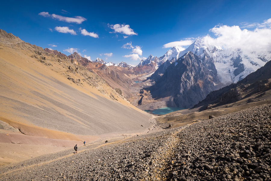 Descending from the Santa Rosa pass - Cordillera Huayhuash