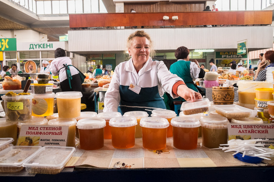 honey - Green Bazaar - Almaty - Kazakhstan