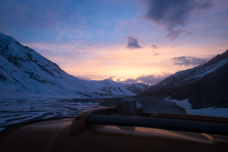 Sunset on Pamir Highway - Tajikistan