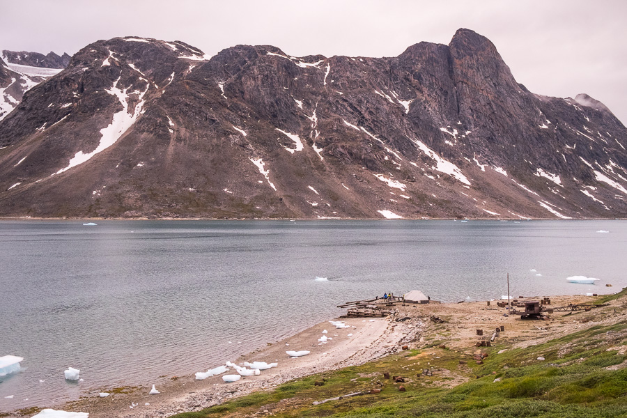 Wide view of our campsite at Bluie East Two and looking across the Sermiligaaq Fjord