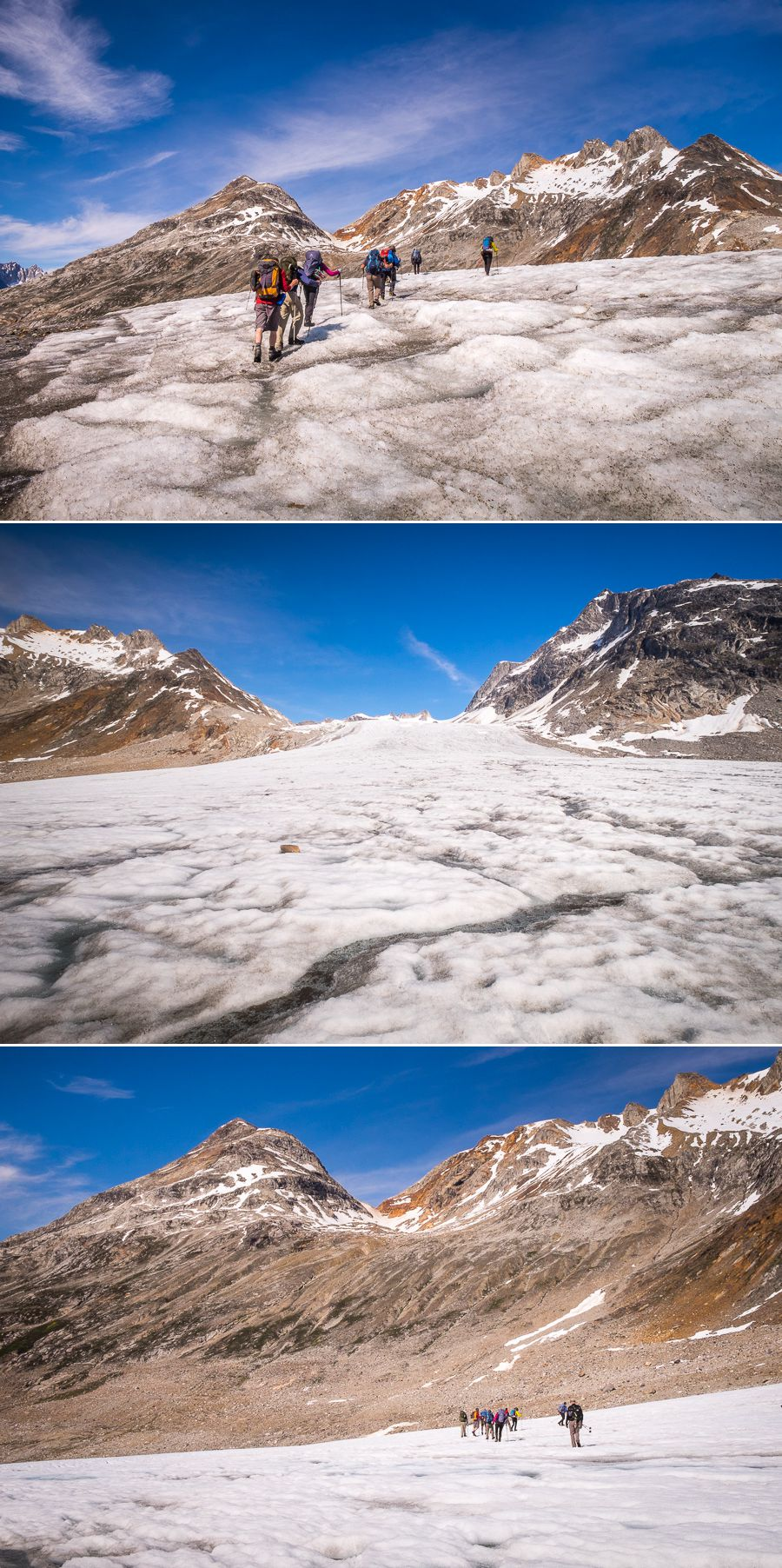 Different views as we hiked across the glacier in theTasiilap Nua Valley