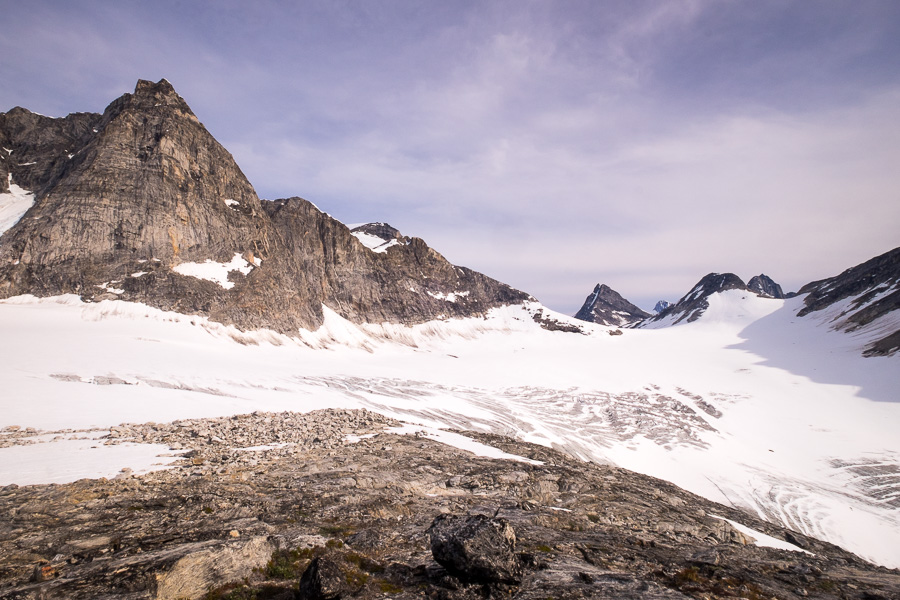 View of the glacier from the Tasiilaq Mountain Hut