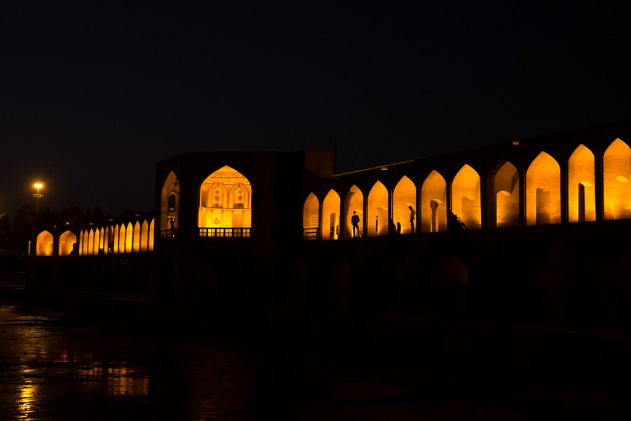 Allahverdi Khan (Si-o-se-pol) Bridge at night - Esfahan - Iran