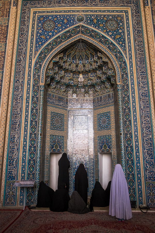 Women praying at Jameh Mosque - Yazd - Iran