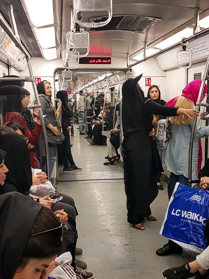 On the metro - Tehran - Iran