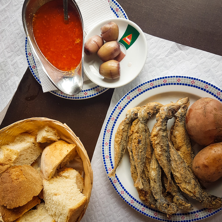 Chicharro - fried mackerel - Azores - Portugal