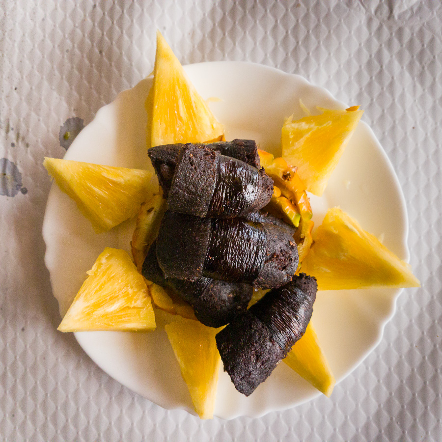 Morcela con Ananas - Blood sausage with pineapple - Azores - Portugal