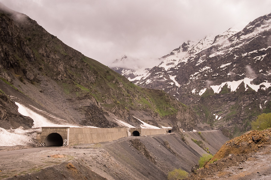Avalanche tunnels - on the way to the Uzbek border - Tajikistan