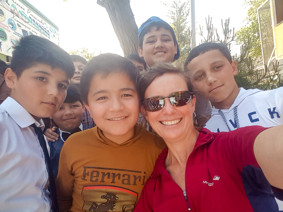 New friends in Istaravshan - Tajikistan