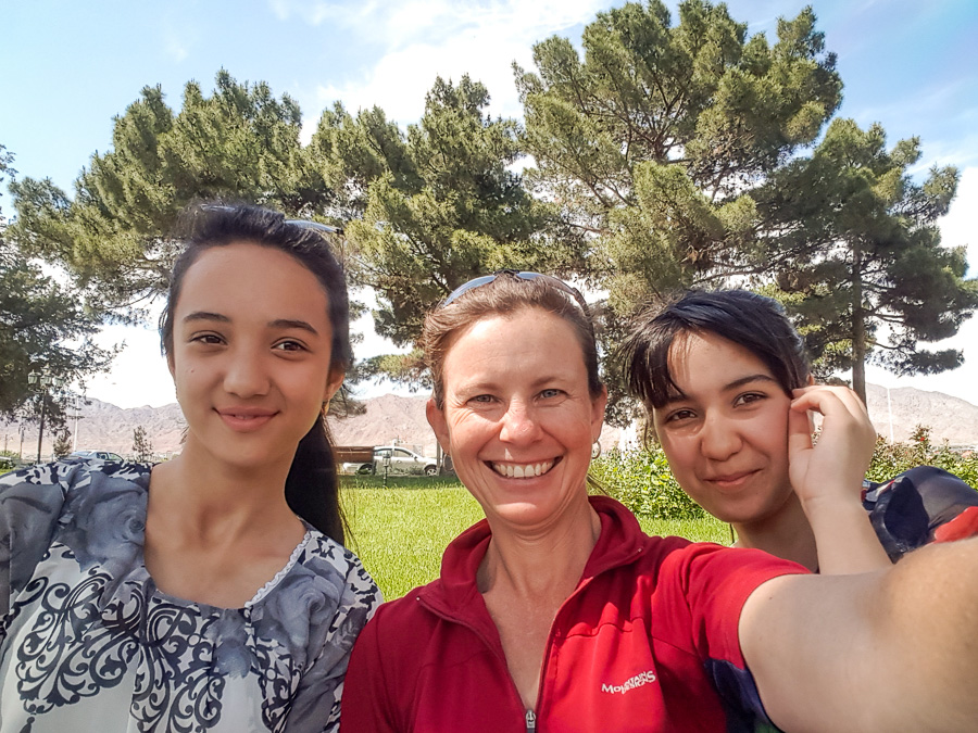 New friends in Khojand - Tajikistan