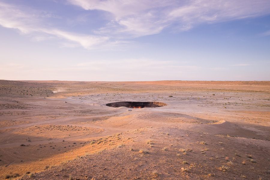 Darvaza crater and Karakum Desert -Turkmenistan