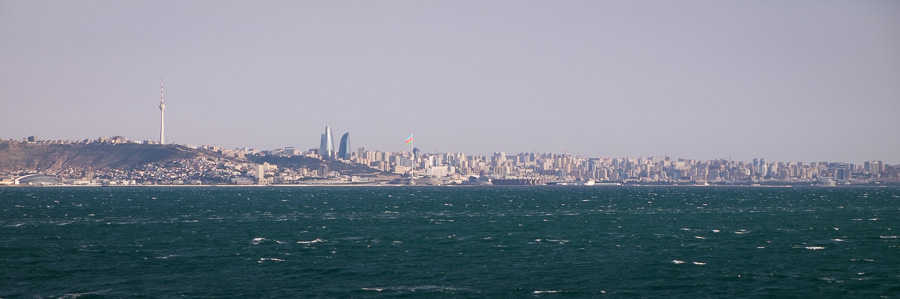 Baku from the ferry - Azerbaijan