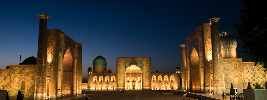 The Registan at night - Samarkand - Uzbekistan