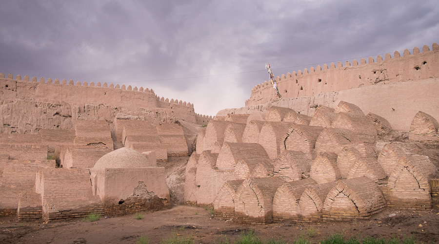 Tombs in the walls of Khiva - Uzbekistan