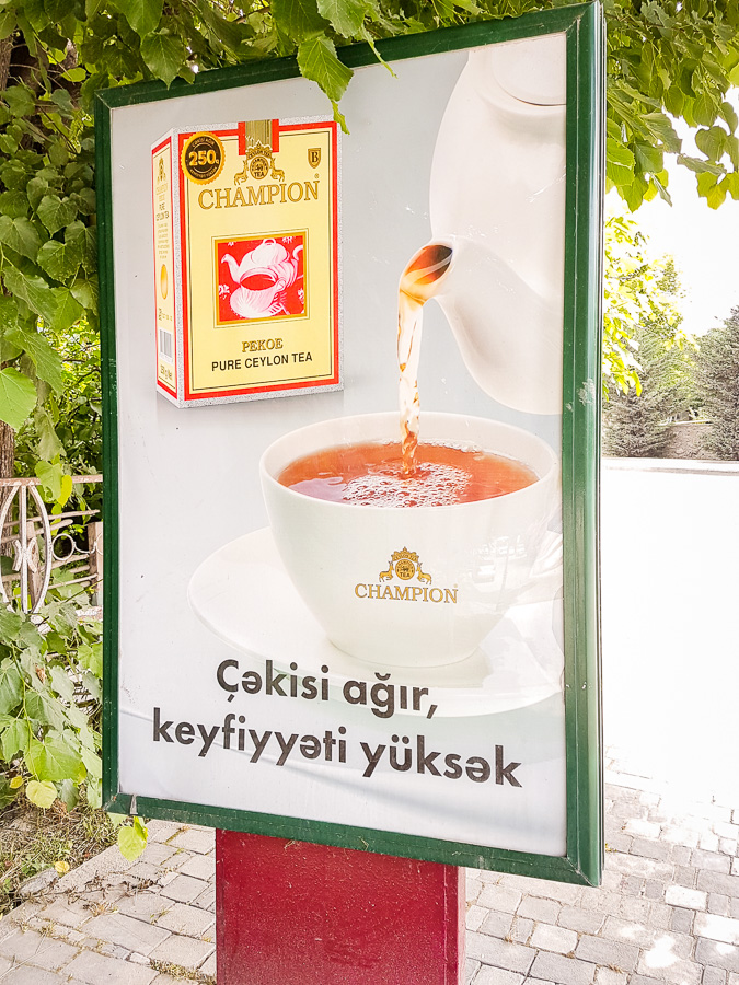 billboards for tea - Azerbaijan