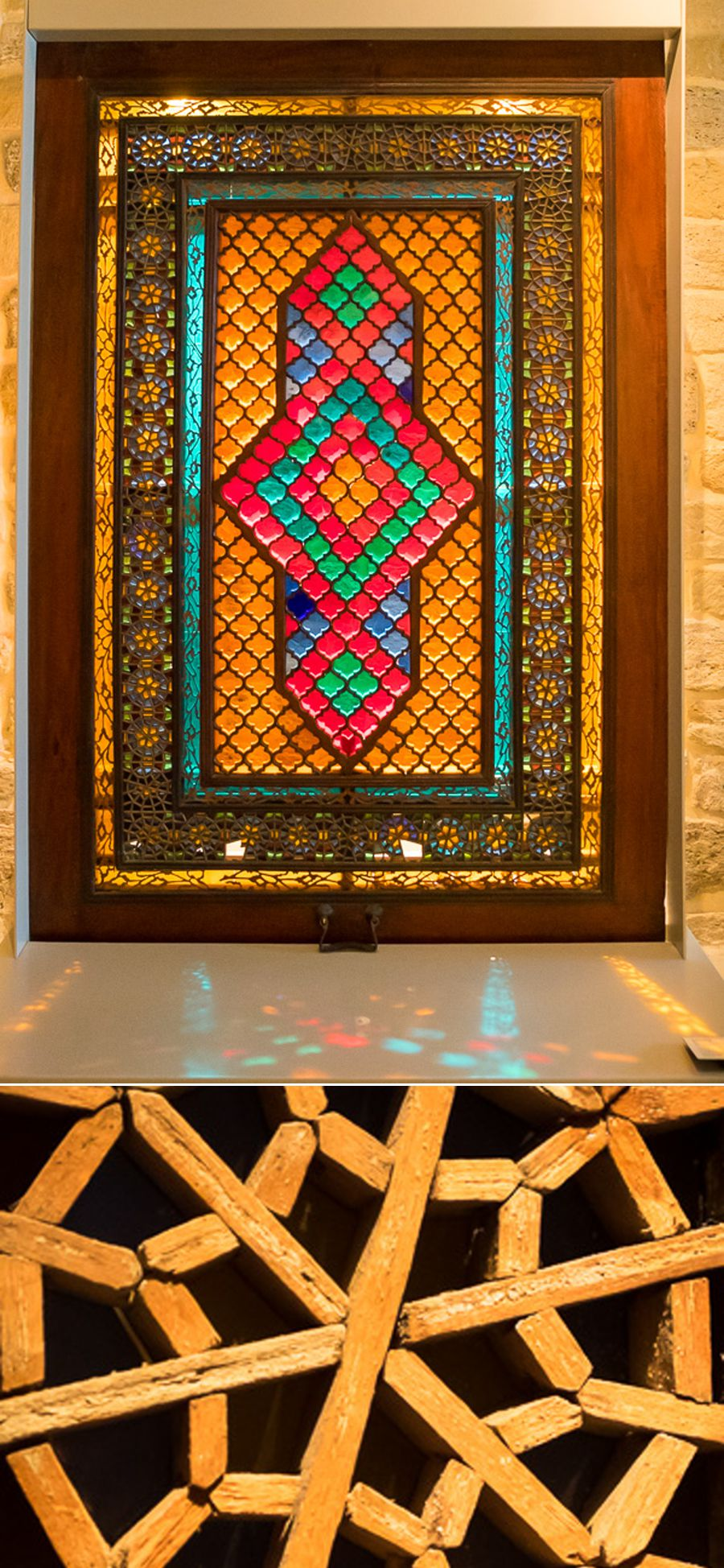 stained-glass window from Sheki - Baku - Azerbaijan