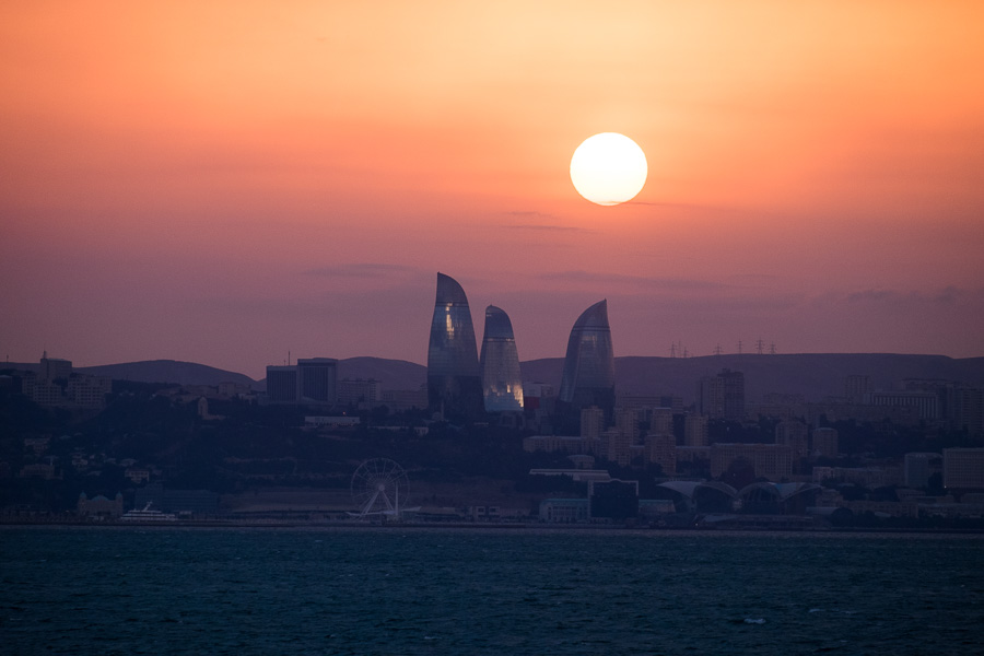 Sunset over Baku - Azerbaijan