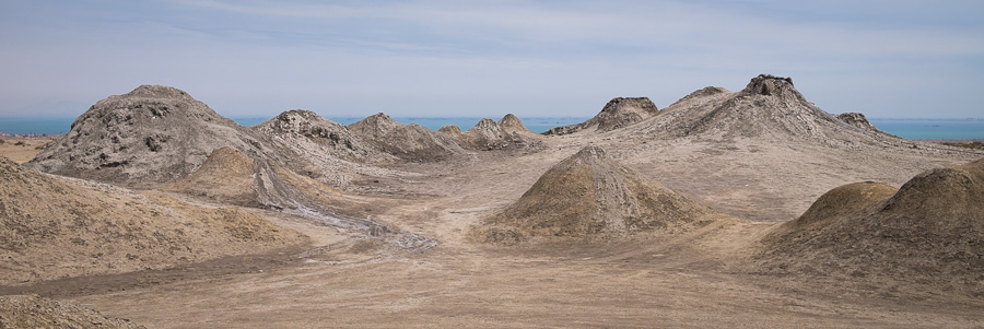 Mud volcanos and the Caspian Sea - Azerbaijan