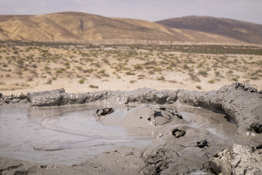Bubbling Mud volcanoes - Azerbaijan