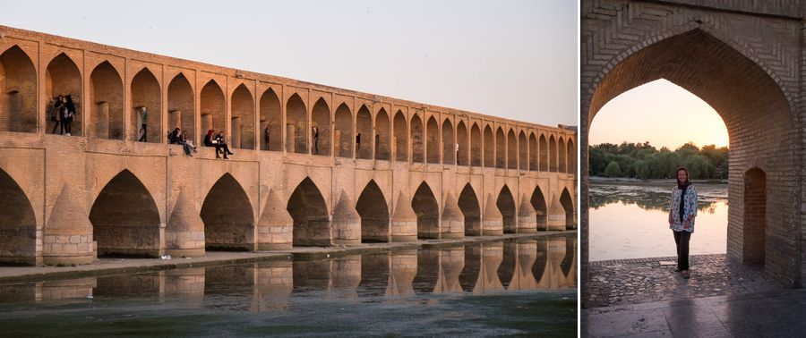 River Zayendeh and the Marnan Bridge - Esfahan - Iran