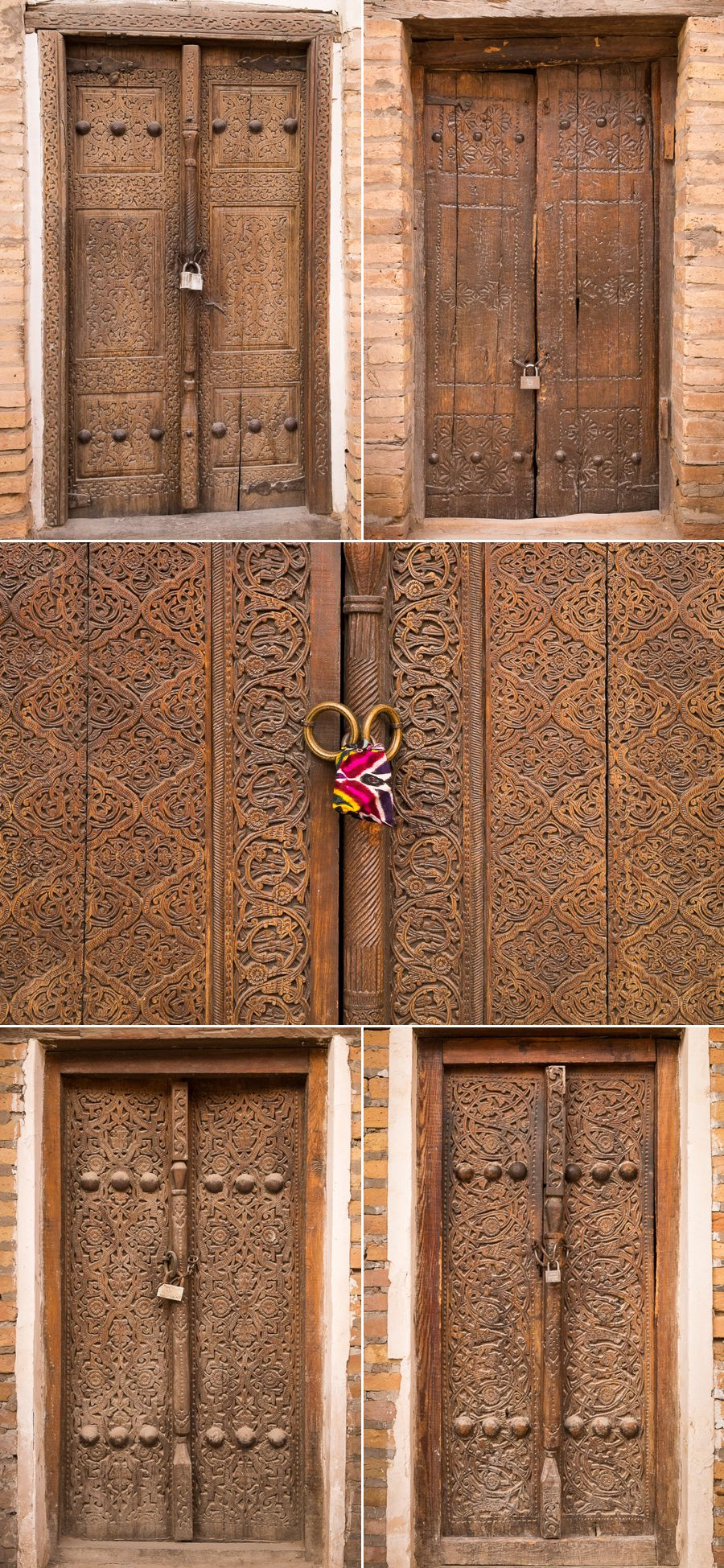 Highly decorated doors - Khiva - Uzbekistan