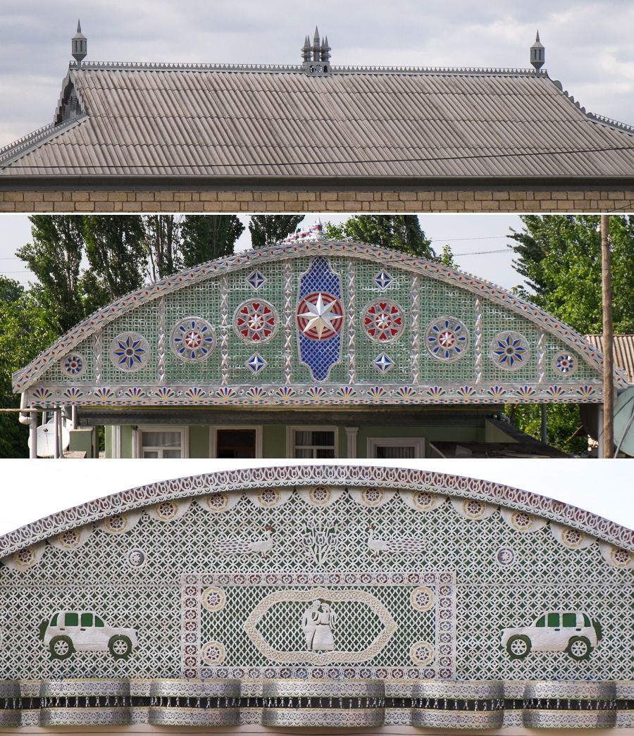 Gable and roof decoration - Azerbaijan