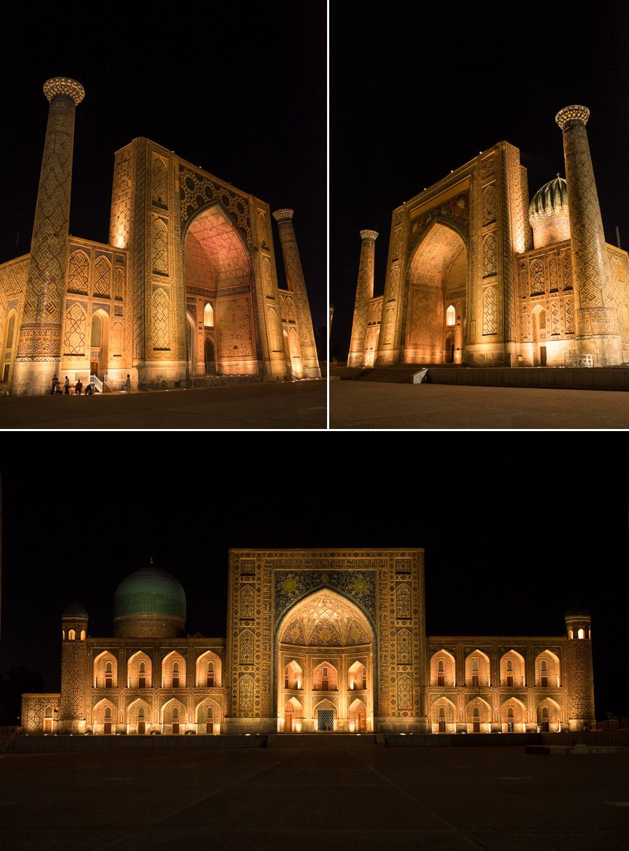 Registan in Samarkand at night - Uzbekistan