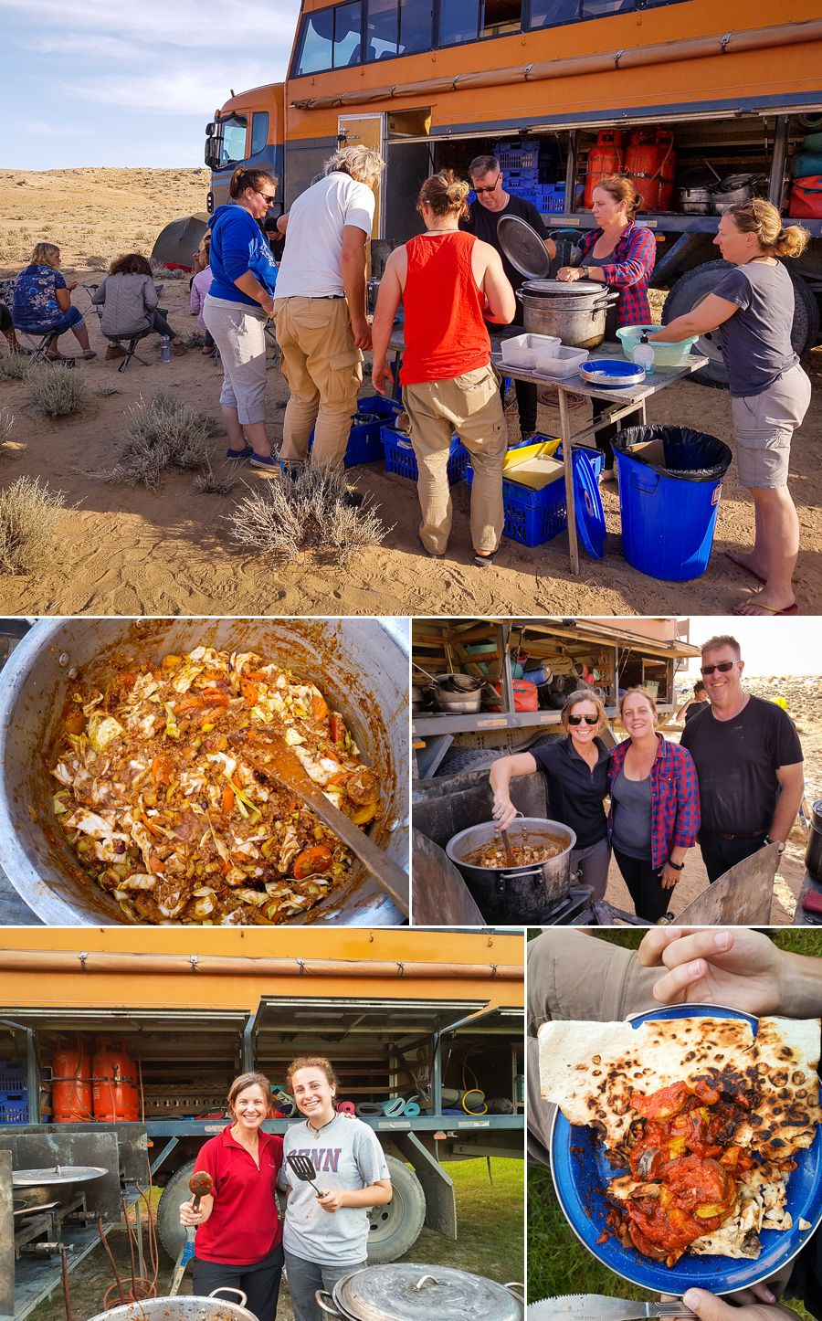 Cooking on an overland tour