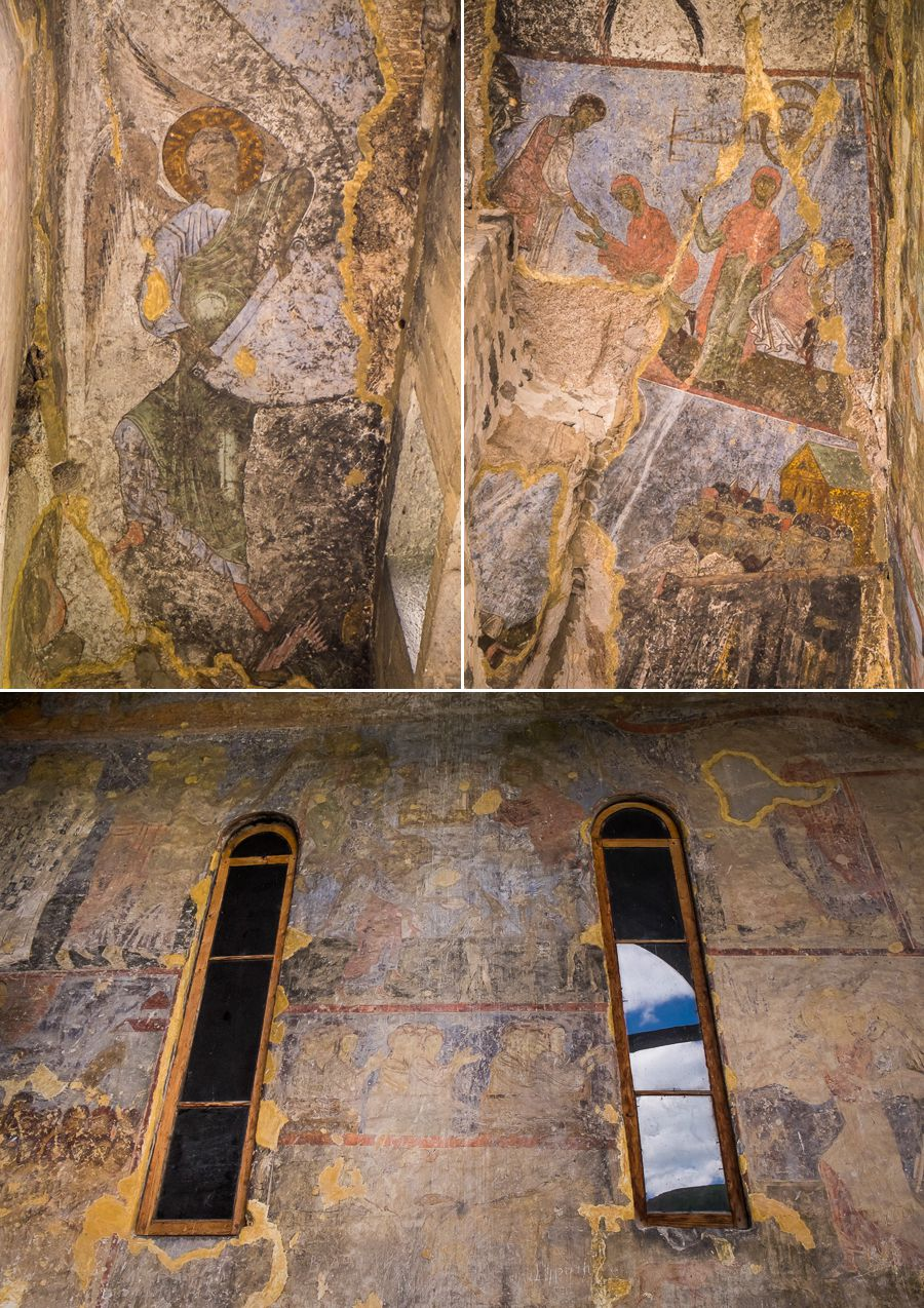 Church of the Dormition frescos - Vardzia - Georgia