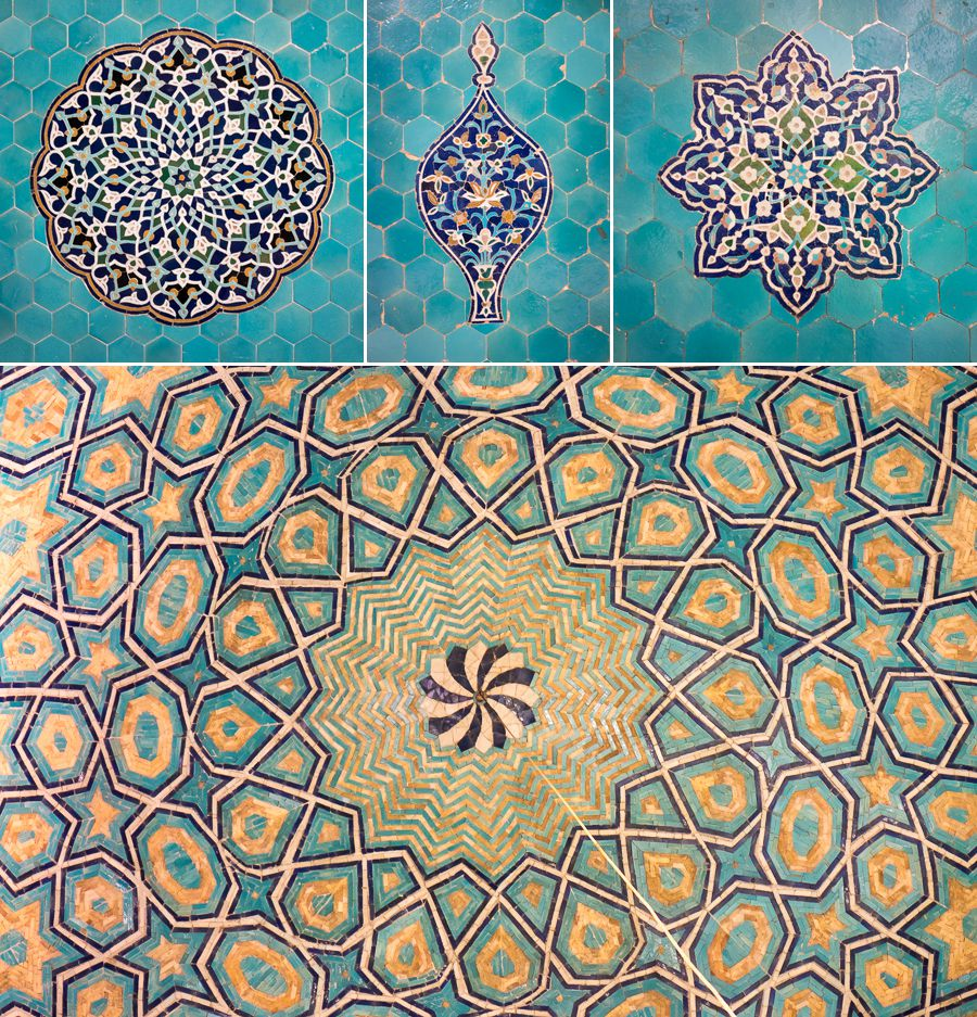 More tiles - Jameh Mosque - Yazd -Iran