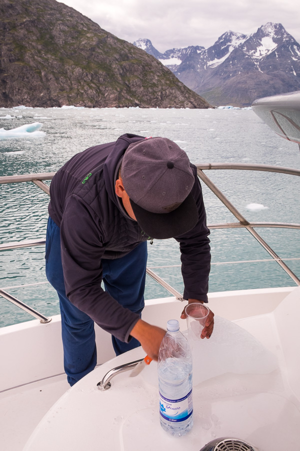 Million-year-old ice in a drink - Narsarsuaq - South Greenland