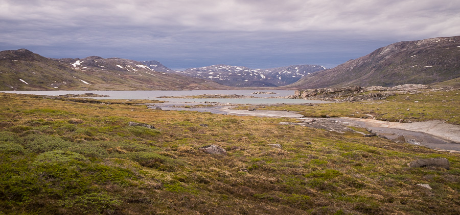 The beautiful lake I hiked to in my detour off the Waterfall Hike near Igaliku in South Greenland