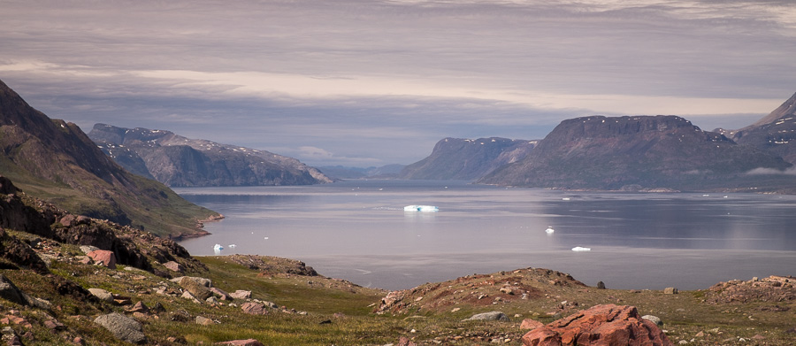 Tunulliarfik Fjord as seen from the Waterfall Hike near Igaliku in South Greenland