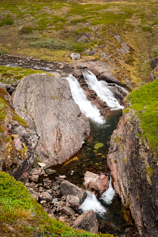 The most impressive of the waterfalls along the Waterfall Hike near Igaliku in South Greenland