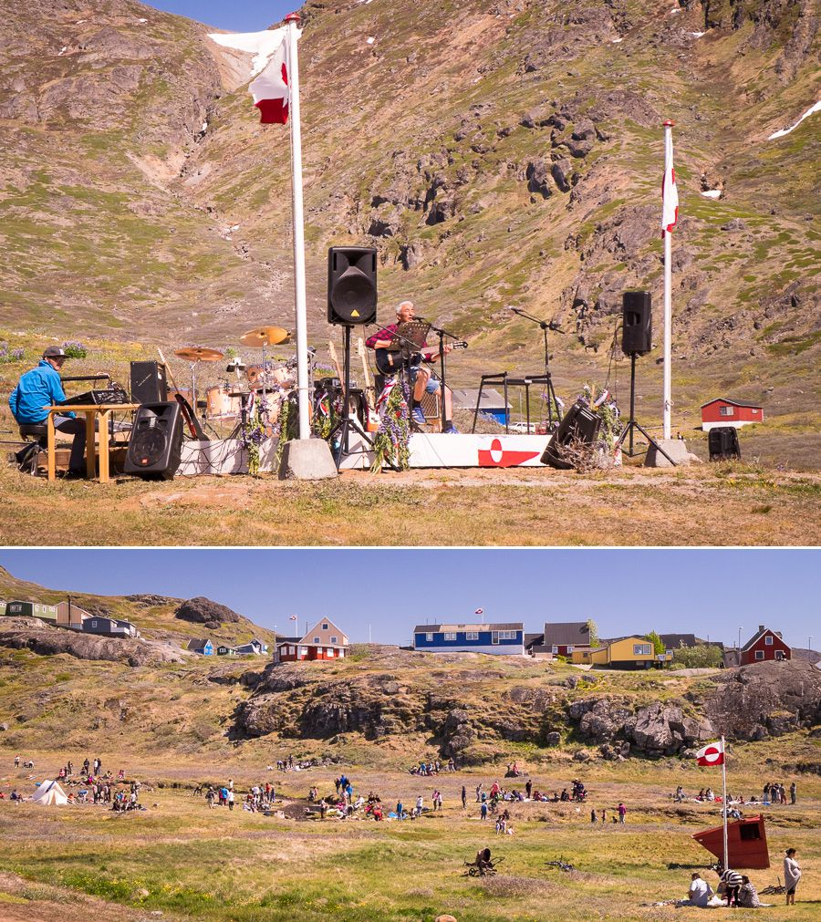 Images of National Day celebrations (including entertainment) from Narsaq in South Greenland